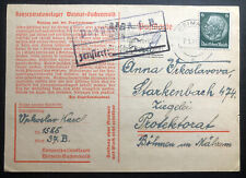 1940 Germany Buchenwald Concentration Camp Postcard Cover to BM Urkoslavova Karl