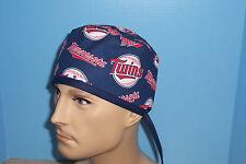 Minnesota Twins MLB Baseball Blue Scrub Hat Cap Medical Surgical Chef Chemo