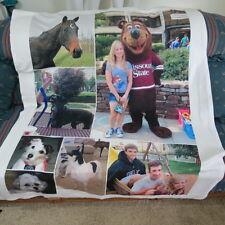 """Personal Throw Fleece  Blanket 46 1/2"""" x 57"""" Horse Dog's Kids"""