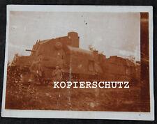 Altes Foto Panzerzug / Panzer Zug / Lokomotive / Eisenbahn 1. WK