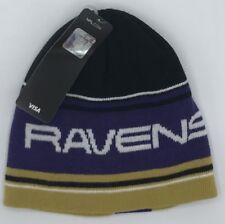 NFL Baltimore Ravens Reebok Cuffless Youth Winter Knit Cap Hat Beanie NEW!