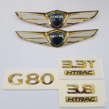 G80 Gold or Rose Gold Emblem Full Set for 2017 2018 Hyundai Genesis G80