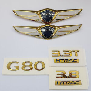 G80 Gold or Rose Gold Emblem Full Set for 2017 2018 Hyundai Genesis G80