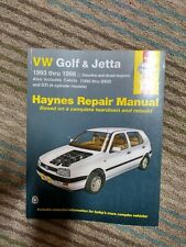 Used Haynes Repair Manual VW Golf & Jetta 1993 thru 1998