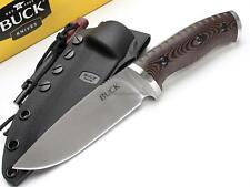 Buck Selkirk Fixed Blade Knife Hunting Survival Micarta 420HC Fire Starter 863
