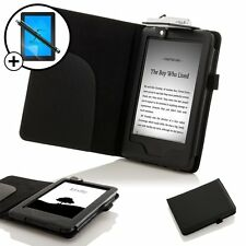 Leather Black Smart Case with Light Amazon Kindle (2014) Screen Prot Stylus