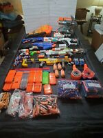 LOT OF 11 NERF GUNS, EXCELLENT USED CONDITION
