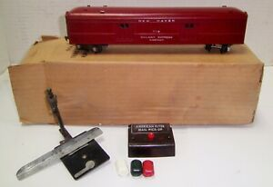 American Flyer 718 Mail Pickup Car Exc Complete Boxed Maroon !  NO RESERVE !