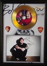 Ed Sheeran Gold Look  CD, Autograph & Plectrum Display