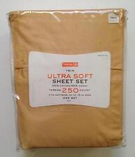 NEW Ultra Soft TWIN SHEET SET Solid 250 Thread Count Target Home
