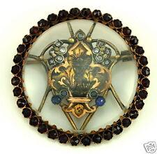 14k Victorian Antique Religious Order Chalis Fleur De Lis Mourning French Pin