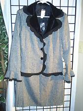 2pc. blackgray skirt suit (12