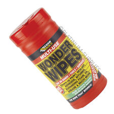 WONDER WIPES TUB 100 WIPES EVERBUILD ANTIBACTERIAL CLEAN HANDS TOOL AND SURFACES