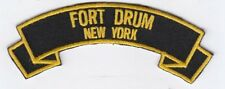 """Fort Drum, New York embroidered 4"""" scroll tab patch"""