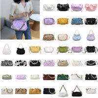Women Chain Shoulder Bag Leather Cloud Messenger Evening Clutch Handbag Purse CA
