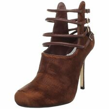 Worn once Camilla Skovgaard brown rust suede stiletto shoes booties 37.5 7.5