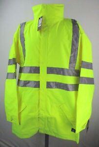 Berne Hi VIs Waterproof Big & Tall Midweight Safety Jacket Men's S, 3XL, 4XL