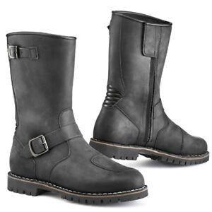TCX FUEL Waterproof Black Leather Vintage Buckle CE Motorcycle Cruiser Boots