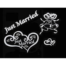 JUST MARRIED BRIDAL CAR WINDOW CLINGS WEDDING DECORATION BY VICTORIA LYNN