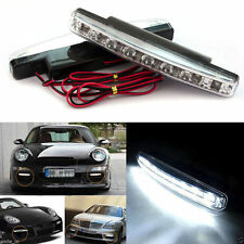 Waterproof 8 LED Daytime Driving Running Light DRL Car Fog Lamp DC 12V White