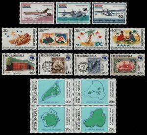 Mikronesien 1984 - Mi-Nr. 1-4, 21-23, 24-27 & 28-31 ** - MNH - 4 Ausgaben