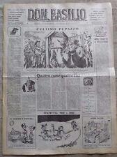 Don Basilio n.14 - 2 aprile 1950 settimanale satirico d'opposizione