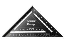 Faithfull 744212 Prestige Quick Square Black Aluminium 300mm (12in)
