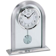 Atlanta 3030 Horloge de table Quartz Analogique Argent avec pendule et Verre À