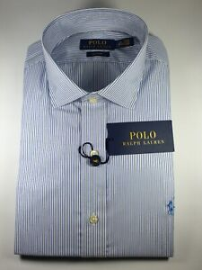 New Authentic Polo Ralph Lauren Men Classic Fit Easy Care Dress Shirt CLEARANCE
