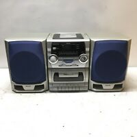 Vintage Sanyo CD Portable Radio Cassette Recorder CWM-340 Boombox Tested Used