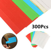 300Pcs 10 Sheets Self-adhesive Cable Labels Identification Marker Tags Sticker