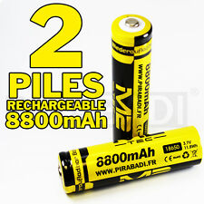2 PILES ACCUS RECHARGEABLE 18650 3.7V 8800mAh M2 BATTERIE BATTERY • QUALITE PRO