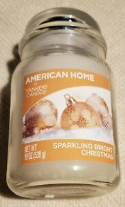 American Home By Yankee Candle Sparkling Bright Christmas 19 oz single wick jar