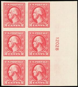 534, Mint 2¢ XF/Superb NH Plate Block of Six Stamps Cat $200.00 - Stuart Katz