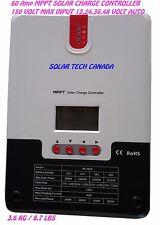 SRNE MPPT solar charger controller 60A 12/24/36/48 auto volt 150v max pv voltage