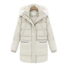 Women's Warm Duck Down Thick Jacket Long Parka Fleece lined Hooded Winter Coat