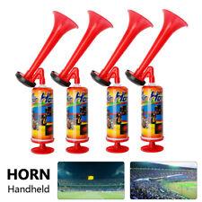 4 Pack Durable Pump Action Air Horn Fog Hand Held Football Festival Loud Airhorn