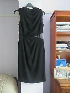 0.99P FAUX LEATHER PATCHES TWIST FRONT COAST DRESS SIZE 8