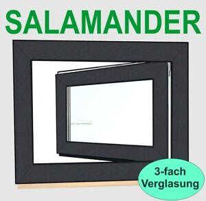 Kunststofffenster  Anthrazitgrau RAL7016 Salamander Fenster 3fach Verglasung