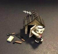 Furuta Choco Egg The Three Little Pigs Wood House Pig Plastic Mini Figure