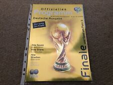 World Cup Final 2006 Germany FIFA Official Programme Italy v France German Ed