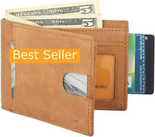 Mens Genuine Leather Hipster European Bifold Fold Small Wallet Credit Card New