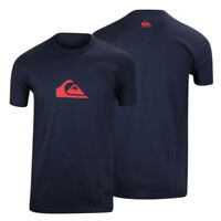Quiksilver Mens Everyday Logo T-Shirt - Navy Blue/Red
