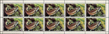 MINNESOTA  1983 STATE FISH STAMP BROWN TROUT by Edward Philpot FULL SHEET OF 10