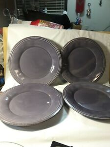 "RACHAEL RAY Cucina Dinnerware Set of 4 8"" salad plates NEW Lavender H016Y"