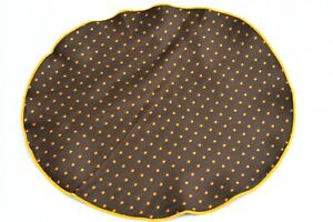 Lord R Colton Masterworks Pocket Round Madrid Brown Dot Silk - $75 Retail New