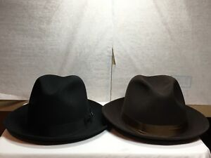 New with Tag Dobbs Fifth Ave New York Fedora Fox Men's Hat Brim 2 1/8''
