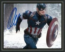 CHRIS EVANS -THE AVENGERS - CAPTAIN AMERICA - SIGNED A4 PHOTO POSTER  FREE POST