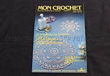M153 Revue ancienne MON CROCHET N°8 DMC 27 ouvrages au crochet nappe couverture
