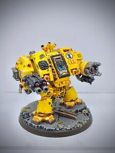 Warhammer 40,000 - Space Marine Imperial Fists Dreadnought painted
